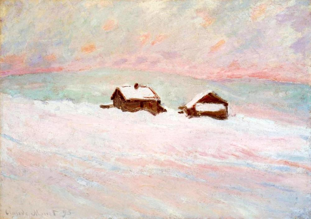 monet_houses_snow_norway_1895