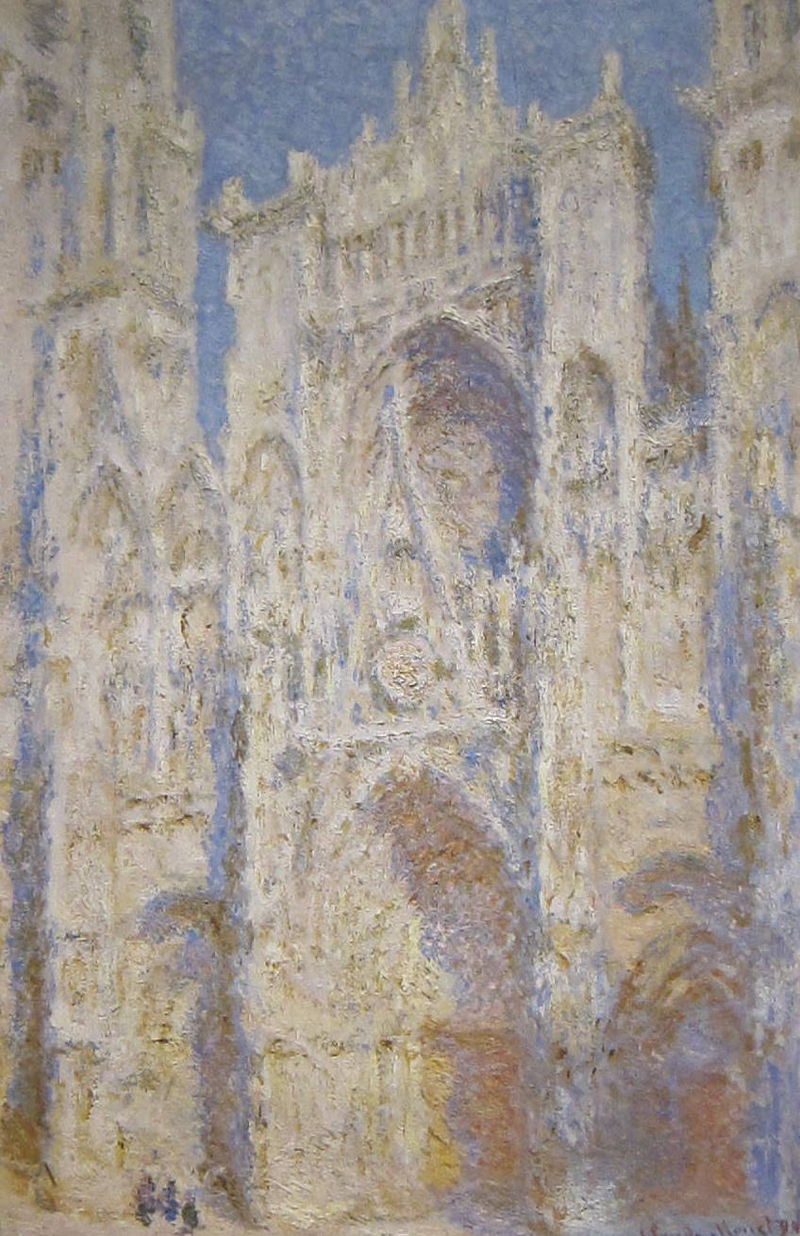 Rouen_Cathedral,_West_Facade,_Sunlight