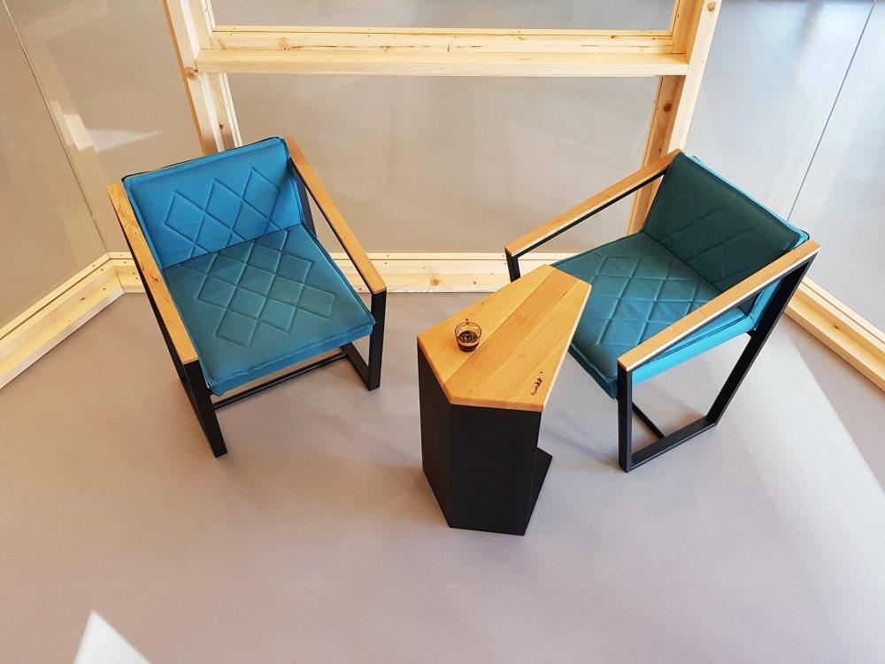 trapezoid armchair